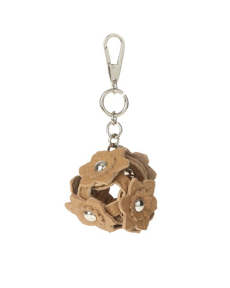 Orciani SOFT FLOWER LEATHER CHARM