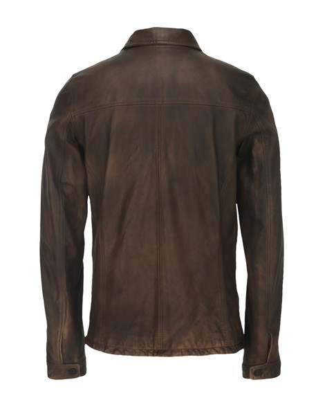 Orciani OLDED LEATHER JACKET