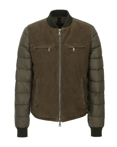 Orciani WAXY SUEDE QUILTED JACKET