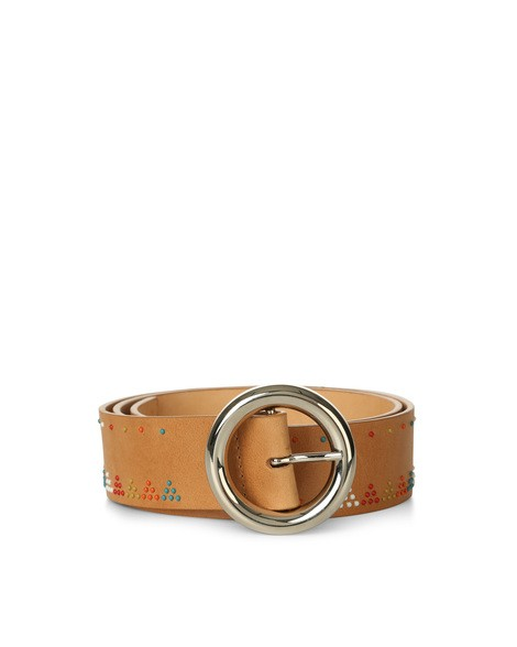 Orciani SOUL MICRO STUDDED LEATHER BELT