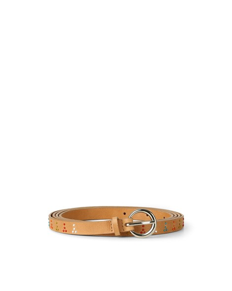 Orciani SOUL MICRO STUDDED TWIN LEATHER BELT