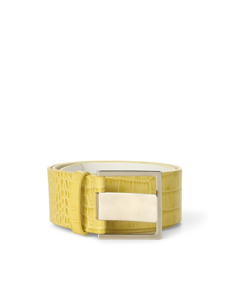 Orciani COCCO HIGH WAIST CROCODILE EMBOSSED LEATHER BELT