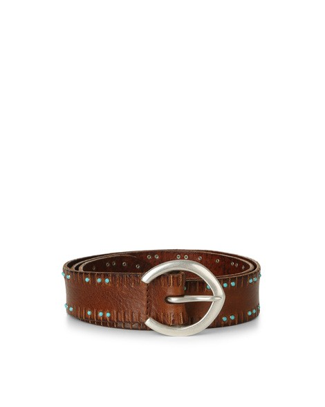 Orciani STAIN MICRO STUDDED LEATHER BELT