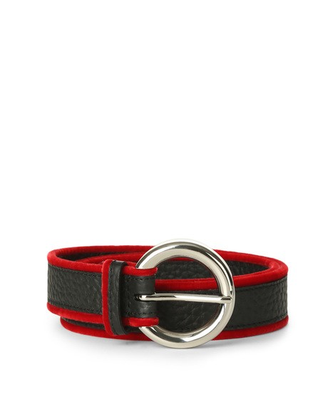 Orciani SOFT LINE LEATHER AND VELVET BELT