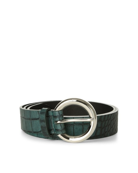 Orciani COCCO CROCODILE EMBOSSED LEATHER BELT