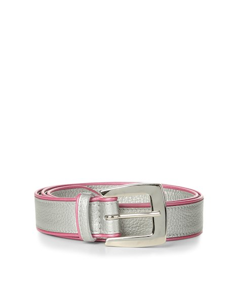Orciani SILVER COLOR LEATHER BELT