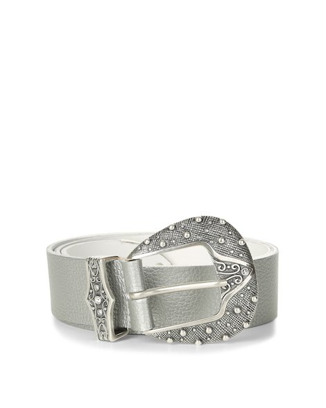 Orciani SILVER LEATHER BELT