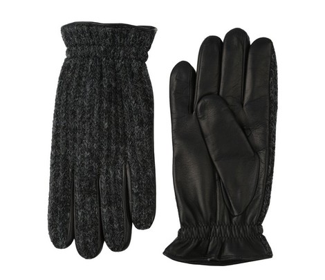 Orciani WOOL FLAKE LEATHER AND WOOL GLOVES