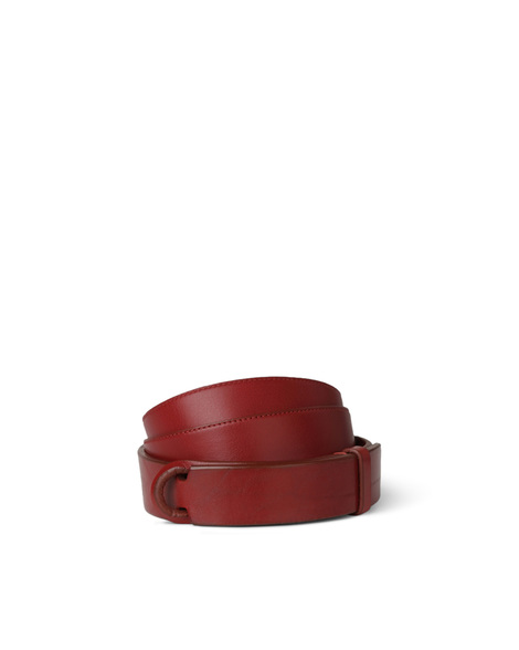 Orciani BULL LEATHER NOBUCKLE BELT, CUT EDGE H.30, CALF LEATHER BA