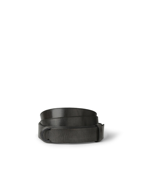 Orciani DIVE LEATHER NOBUCKLE BELT CUT EDGE H.30, LEATHER BACK SID