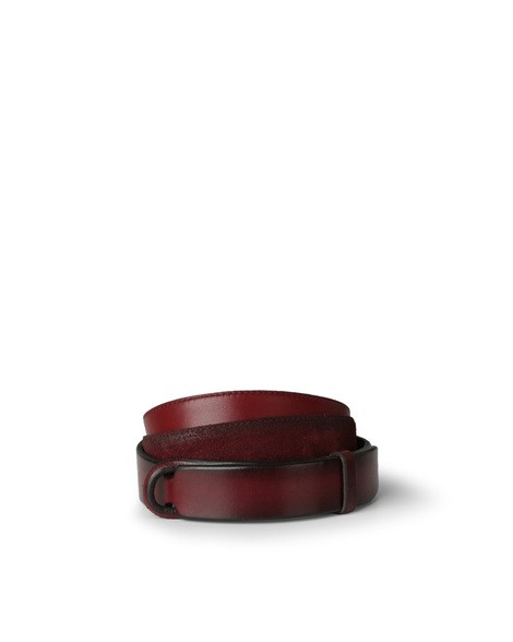 Orciani CLOUDY SUEDE AND LEATHER NOBUCKLE BELT