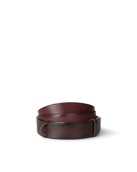 Orciani TEJUS EMBOSSED LEATHER NOBUCKLE BELT