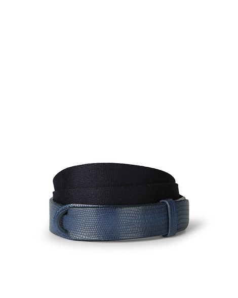 Orciani TEJUS LEATHER AND FABRIC BELT
