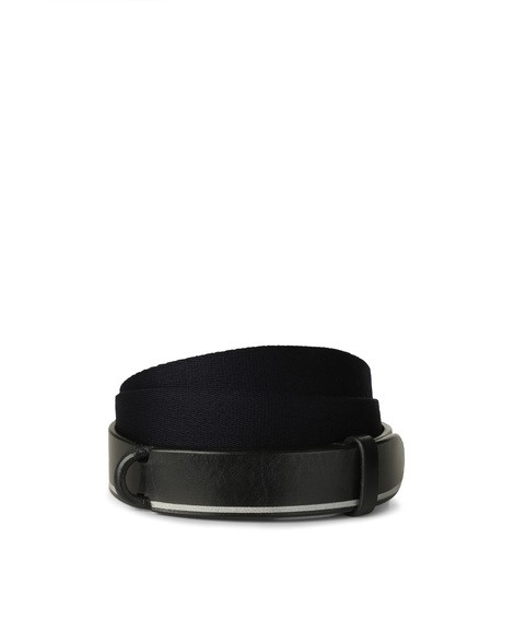 Orciani BULL LEATHER AND FABRIC NOBUCKLE BELT