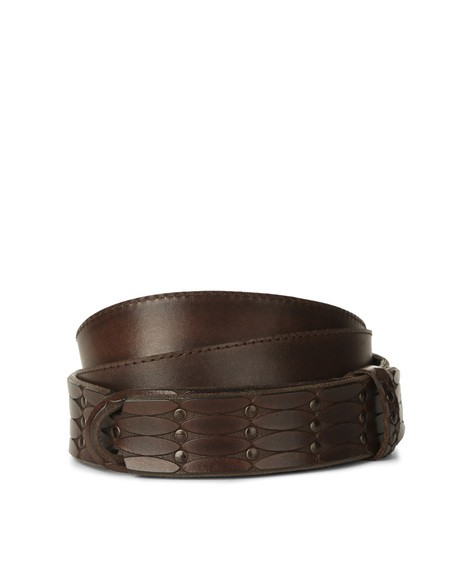 Orciani DIVE LEATHER NOBUCKLE BELT