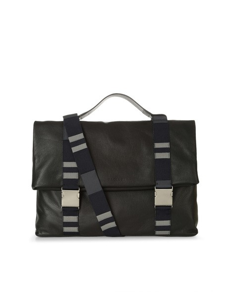 Orciani PORTLAND LINE LEATHER AND FABRIC BAG
