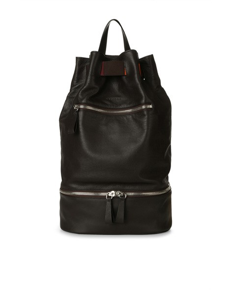 Orciani PORTLAND LINE LEATHER AND FABRIC BACKPACK