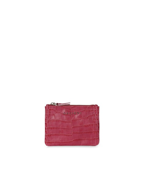 Orciani COCCO CROCODILE EMBOSSED LEATHER POUCH