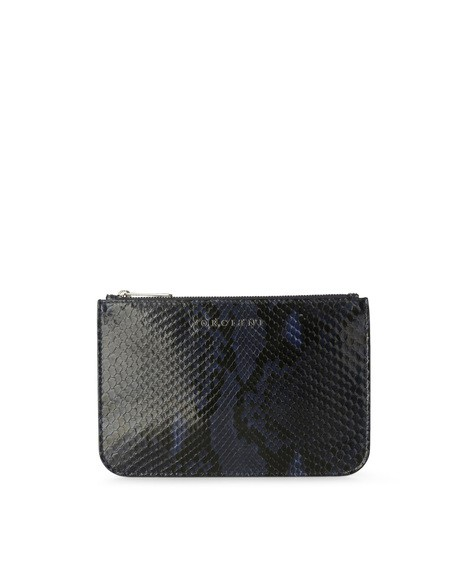 Orciani DIAMOND PYTHON LEATHER POUCH