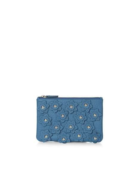 Orciani SOFT FLOWER LEATHER POUCH