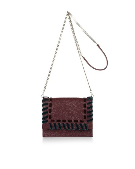 Orciani ETHNIC VELVET LEATHER MINI BAG
