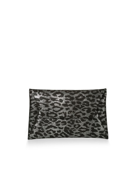 Orciani JUNGLE LEATHER ENVELOPE BAG