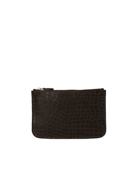 Orciani NEW CAYMAN LEATHER POUCH