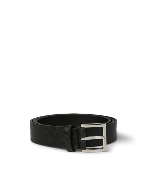 Orciani BASIC SAFFIANO CLASSIC LEATHER BELT
