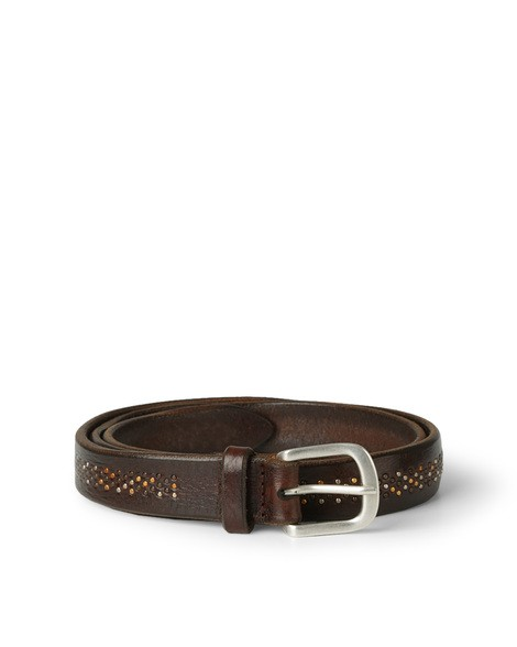 Orciani STAIN MICROSTUDDED LEATHER BELT