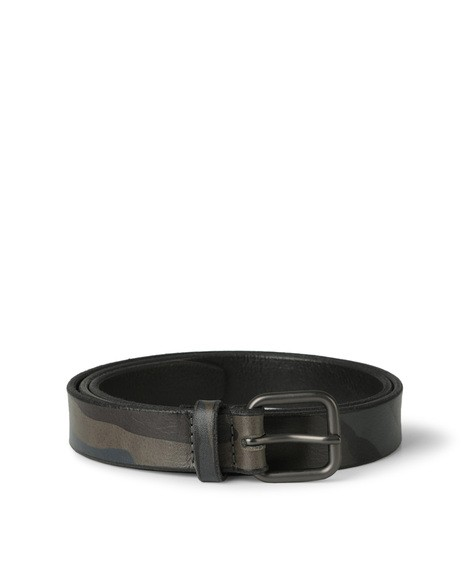 Orciani MIMETIC CAMOUFLAGE EMBOSSED LEATHER BELT