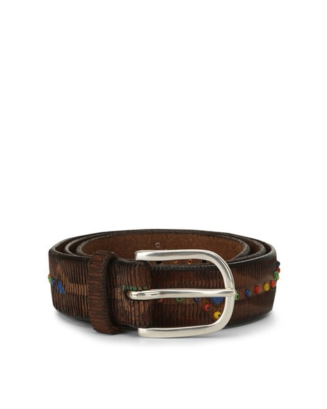 Orciani NAMIBIA MICRO STUDDED LEATHER BELT