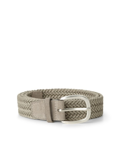 Orciani POSITANO LEATHER AND FABRIC BELT