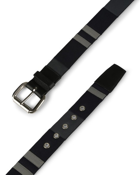 Orciani PORTLAND LINE FABRIC AND LEATHER BELT