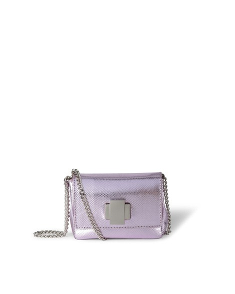 Orciani LEATHER SNAKE MINI BAG
