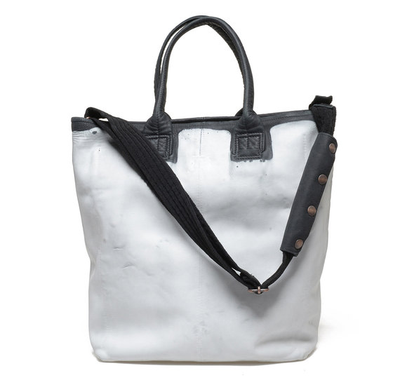 Shopper bag white/black