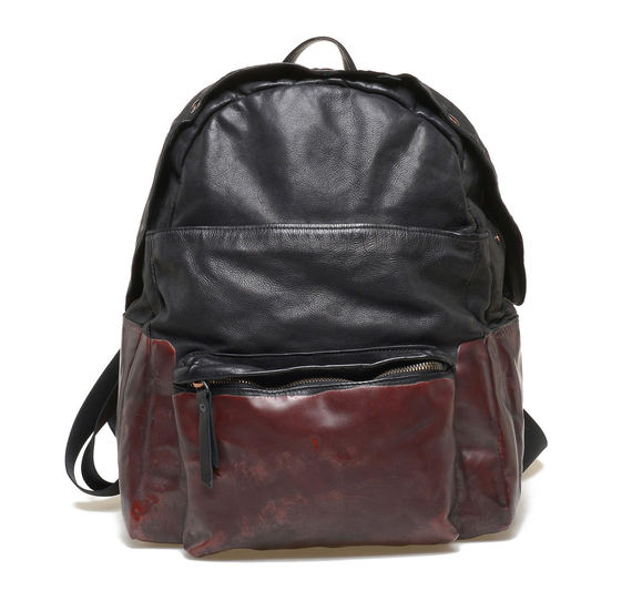 Black/burgundy backpack