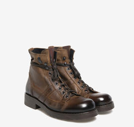 John<br />brown polished leather boots