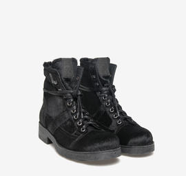 John<br />polished black leather pony boots