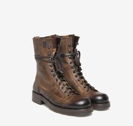 Stewart<br />brown calfskin ankle boots