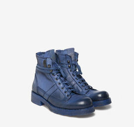 John<br />Polish blue-dyed leather boots