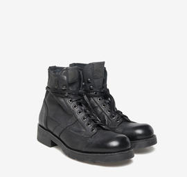John<br />Polish black-dyed leather boots