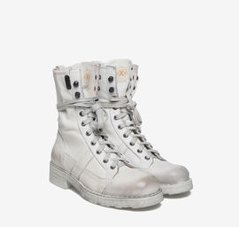 Stewart<br />white-dyed leather ankle boots