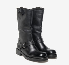 Kevin<br />boot cut leather biker boots