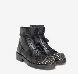 John<br />Polish leather studded boots