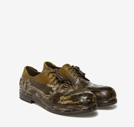 Waxed leather Derby shoes