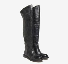 Calfskin over-knee boots
