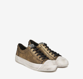 Leather glitter sneakers
