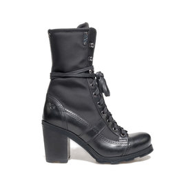 Stewart<br />Leather ankle boots with high-tech fabric