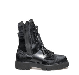 Amtrac<br />Leather ankle boots with pony effect