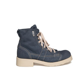 John<br />Blue-coloured canvas ankle boot for man